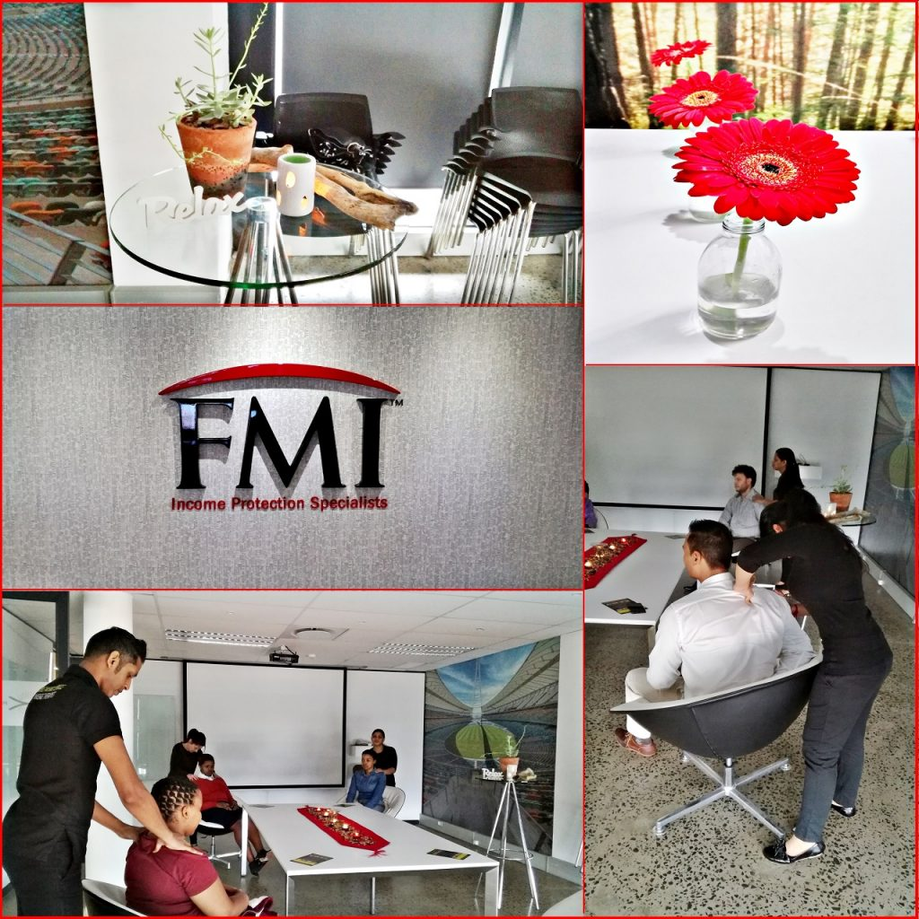Wellness Day at FMI - Corporate Massage - Mobile Massage Service - Durban